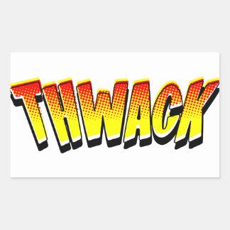 THWACK Comic Book Sound Effect Rectangular Sticker