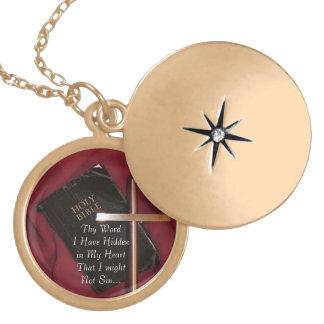 Thy Word I Have Hidden in My Heart - Gold Locket