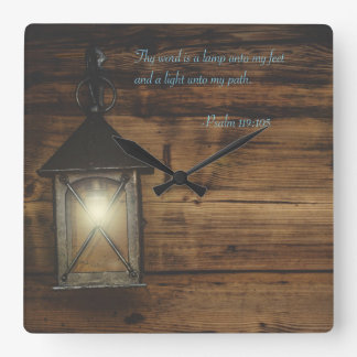Thy word is a lamp square wall clock