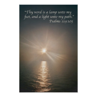 Thy word is a lamp unto my feet  variation 4 poster