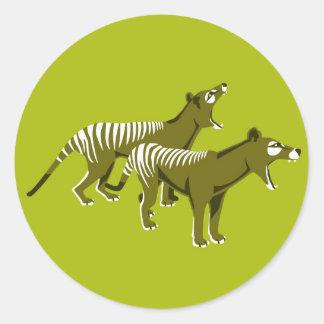 Thylacine Classic Round Sticker