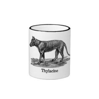Thylacine (Tasmanian TIger) Ringer Coffee Mug