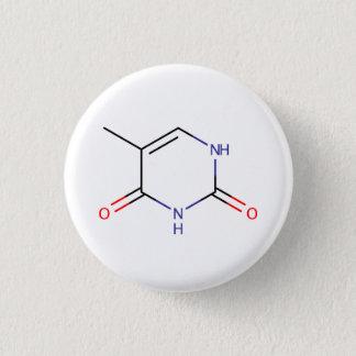 Thymine Molecule 3 Cm Round Badge