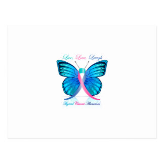 Thyroid Butterfly- Live Love Laugh Postcard