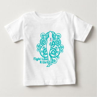 Thyroid Cancer Abstract Fight Like a Girl T Shirt