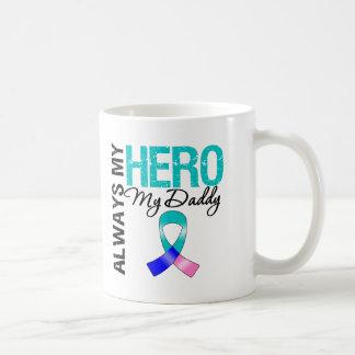 Thyroid Cancer ALWAYS MY HERO MY DADDY Basic White Mug