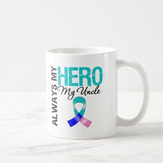 Thyroid Cancer ALWAYS MY HERO MY Uncle Basic White Mug