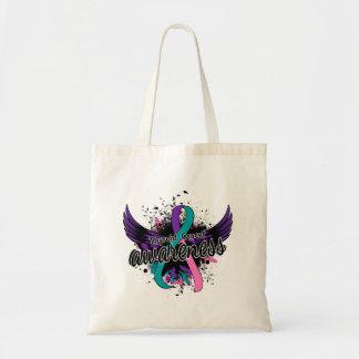 Thyroid Cancer Awareness 16 Budget Tote Bag