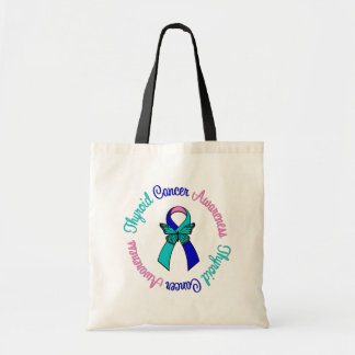 Thyroid Cancer Awareness Budget Tote Bag