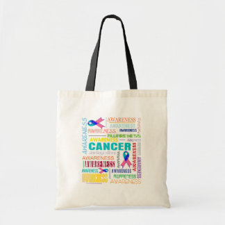 Thyroid Cancer Awareness Collage Budget Tote Bag