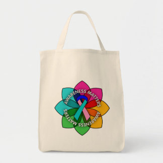 Thyroid Cancer Awareness Matters Petals Tote Bags