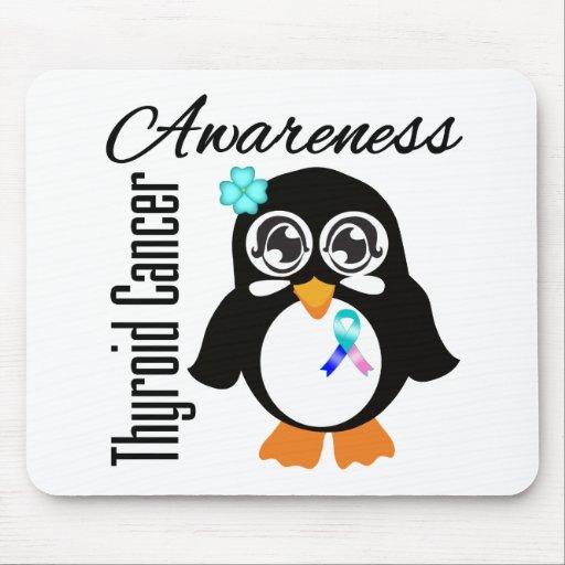 Thyroid Cancer Awareness Penguin Mousepad