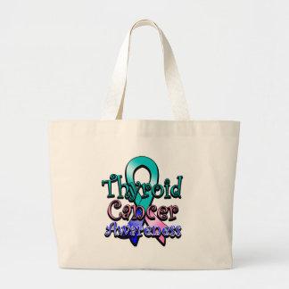 Thyroid Cancer Awareness Ribbon Jumbo Tote Bag