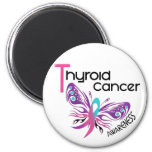 Thyroid Cancer BUTTERFLY 3.1 6 Cm Round Magnet
