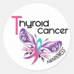 Thyroid Cancer BUTTERFLY 3.1 Round Sticker