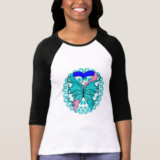 Thyroid Cancer Butterfly Circle of Ribbons Tees