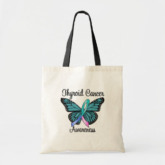 Thyroid Cancer Butterfly Ribbon Bag