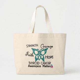 Thyroid Cancer Celtic Butterfly 3 Jumbo Tote Bag