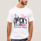 Thyroid Cancer Chick Gone Teal, Purple, and Pink T-Shirt