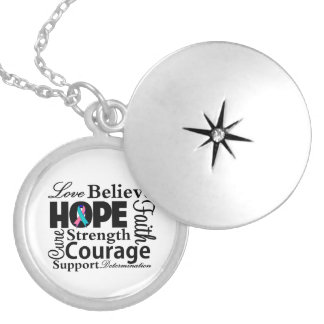 Thyroid Cancer Collage of Hope Necklaces