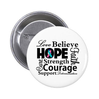Thyroid Cancer Collage of Hope Pin