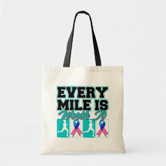 Thyroid Cancer Every Mile is Worth It Budget Tote Bag