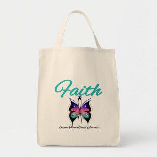 Thyroid Cancer Faith Butterfly Ribbon Bags