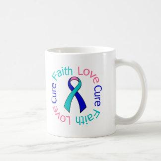 Thyroid Cancer Faith Love Cure Basic White Mug