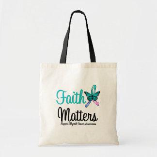 Thyroid Cancer Faith Matters Canvas Bag