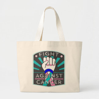 Thyroid Cancer Fight Against Cancer Jumbo Tote Bag