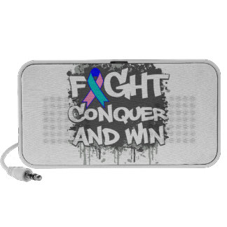 Thyroid Cancer Fight Conquer and Win Mini Speaker