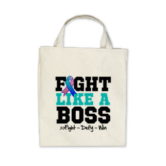 Thyroid Cancer Fight Like a Boss Tote Bag