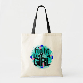 Thyroid Cancer Fight Like A Girl Rock Ed. Tote Bags