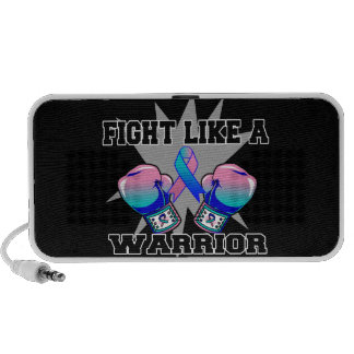 Thyroid Cancer Fight Like a Warrior iPod Speakers