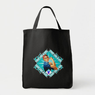 Thyroid Cancer Fight Rosie The Riveter Canvas Bag