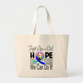Thyroid Cancer Fight We Can Do It Tote Bag