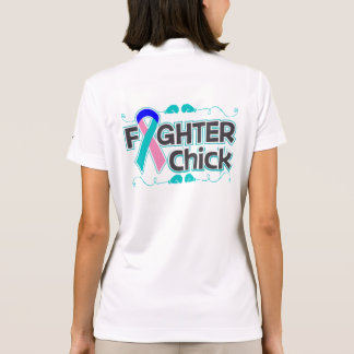 Thyroid Cancer Fighter Chick Polo Shirt