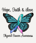 Thyroid Cancer Hope Butterfly