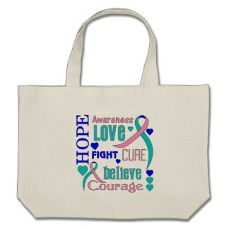 Thyroid Cancer Hope Collage Tote Bags