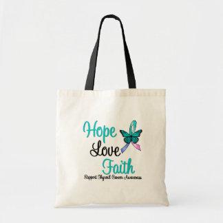 Thyroid Cancer Hope Love Faith Budget Tote Bag