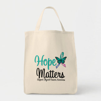 Thyroid Cancer HOPE Matters Grocery Tote Bag