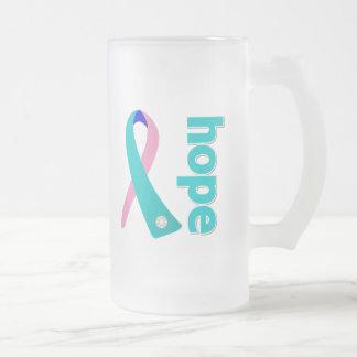 Thyroid Cancer Hope Ribbon Coffee Mug