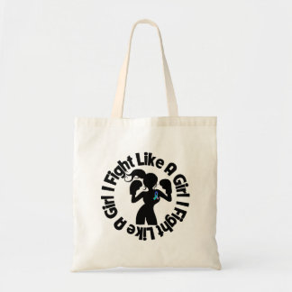Thyroid Cancer I Fight Like A Girl Pose Budget Tote Bag