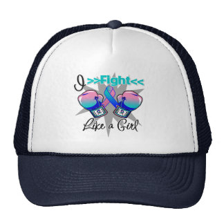 Thyroid Cancer I Fight Like a Girl With Gloves Cap