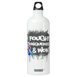 Thyroid Cancer I Fought Conquered Won SIGG Traveler 1.0L Water Bottle