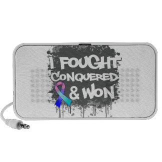 Thyroid Cancer I Fought Conquered Won Portable Speakers