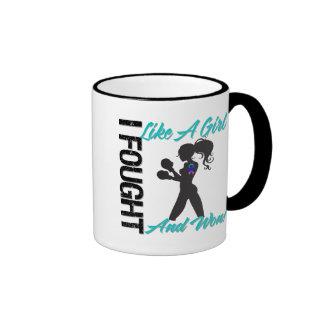 Thyroid Cancer I Fought Like A Girl and Won Coffee Mug