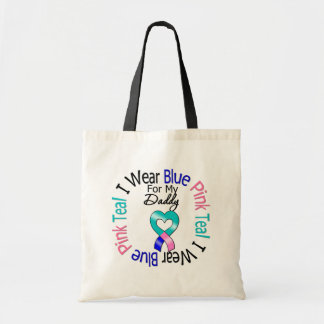 Thyroid Cancer I Wear Heart Ribbon For My Daddy Budget Tote Bag