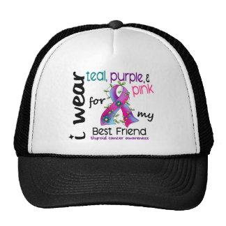 Thyroid Cancer I Wear Ribbon For My Best Friend 43 Cap