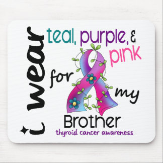 Thyroid Cancer I Wear Ribbon For My Brother 43 Mouse Pad